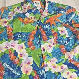 Hilo Hattie Hawaiian Lei Shirt Mens XL Floral